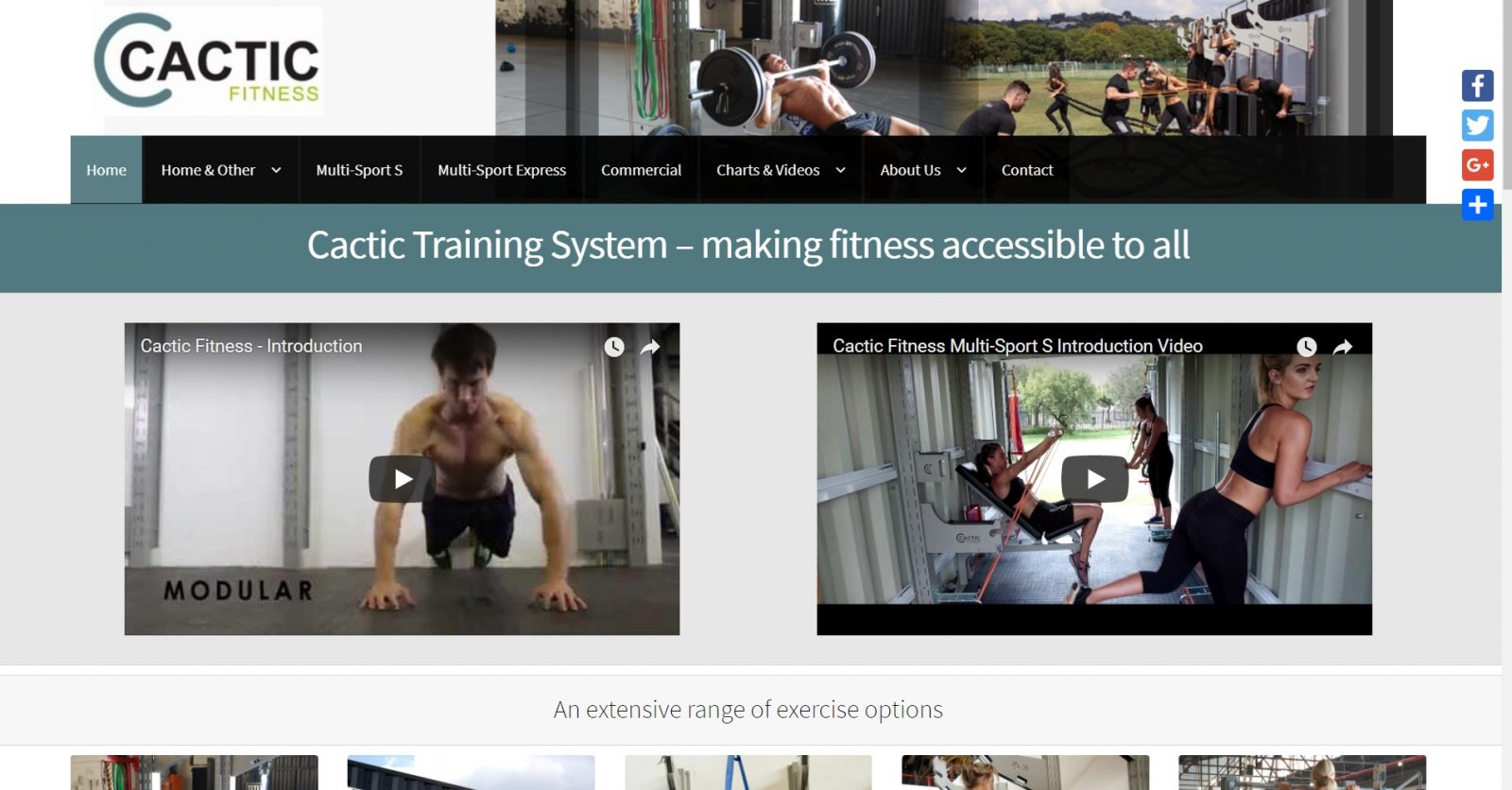 Cactic Fitness Website