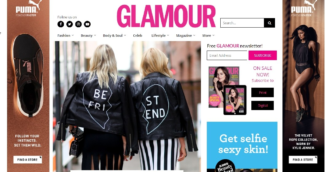 Glamour Website