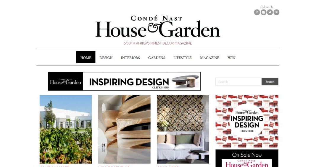 House Garden website by BYoung Design