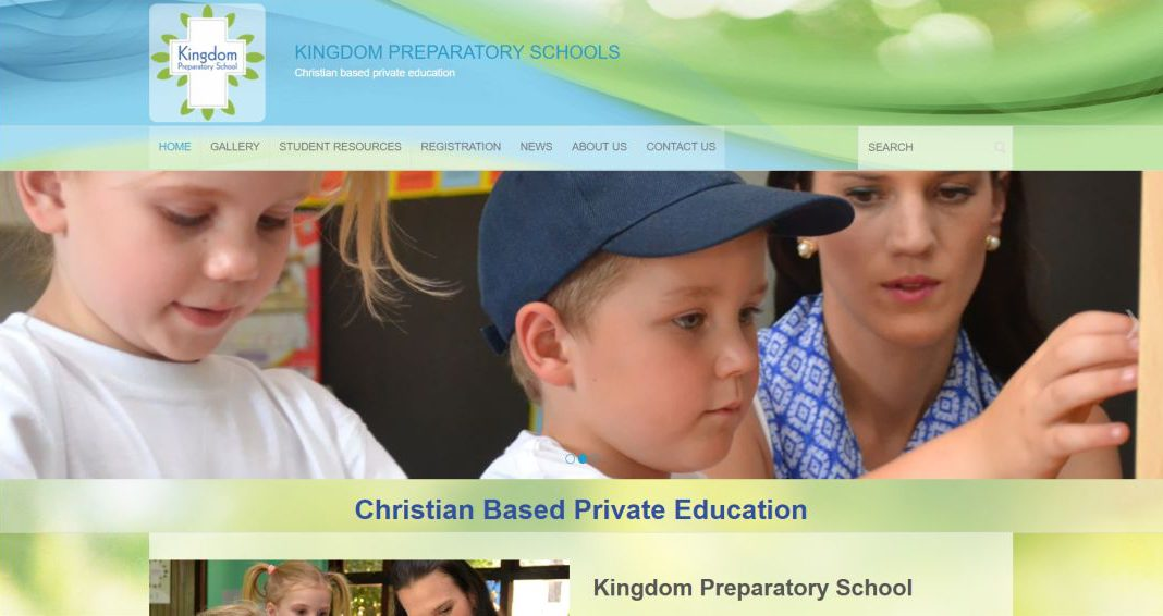 KP Schools website by BYoung Design