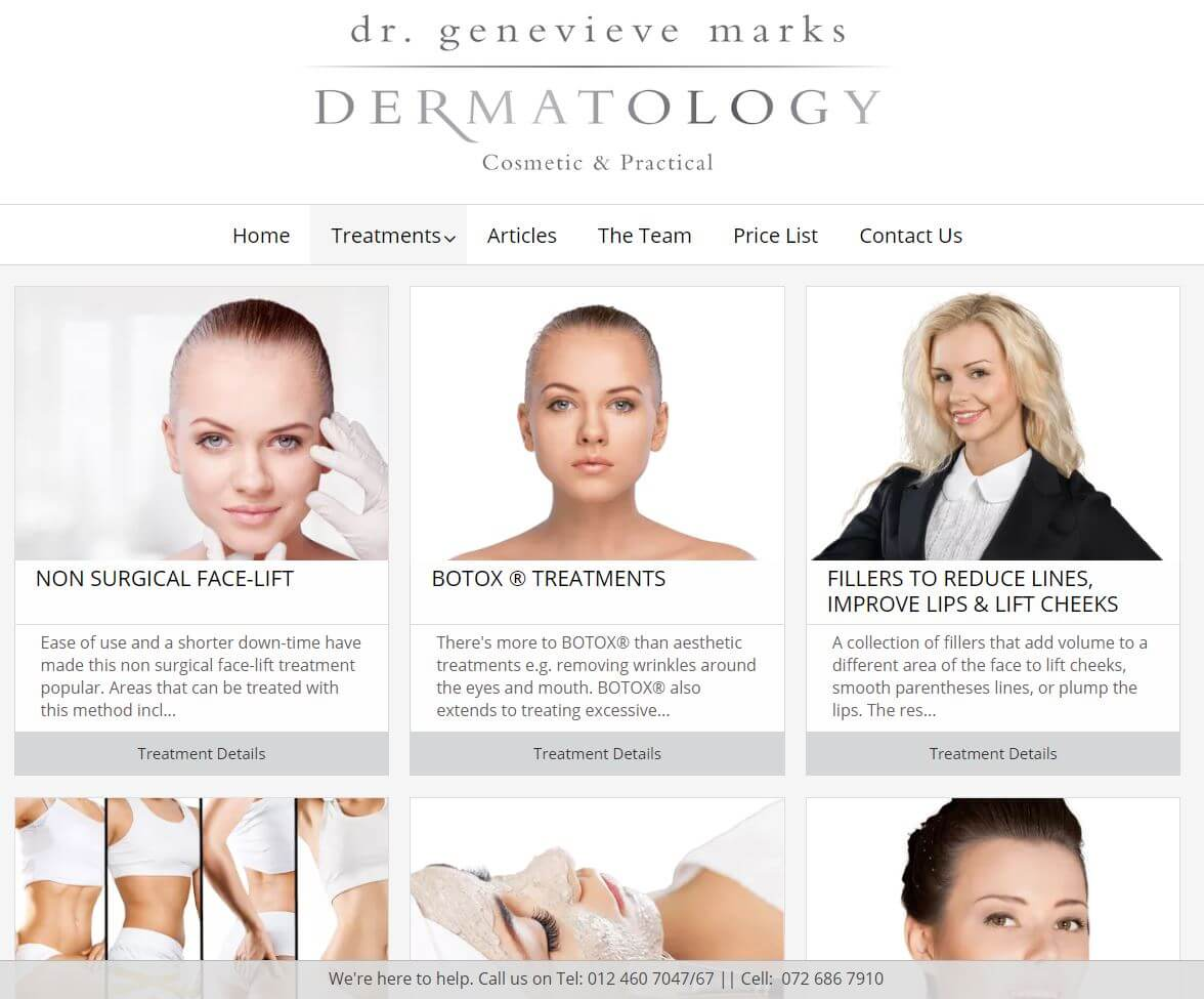 Dr G Marks - Treatments Page