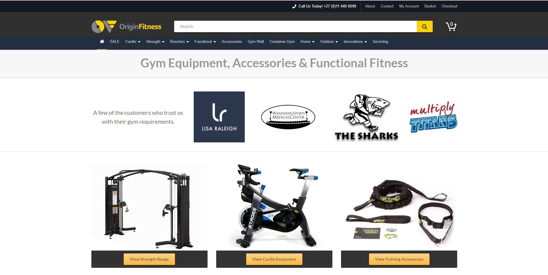 Origin Fitness Home Page