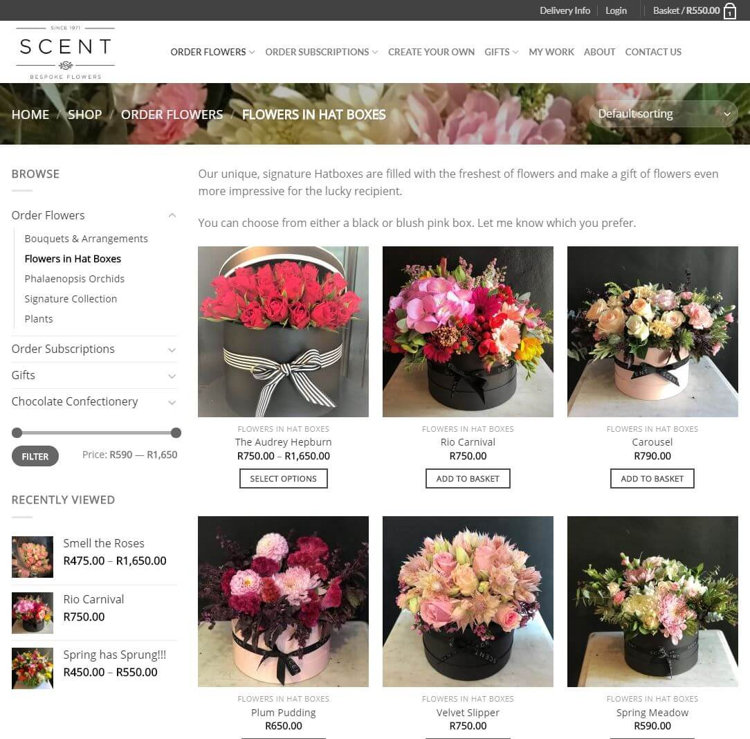 Scent Flowers - Category Page